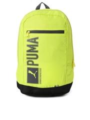 PUMA Unisex Green & Black Pioneer Backpack