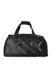PUMA Unisex Black Echo Sports Duffel Bag