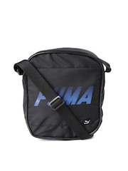 PUMA Unisex Black Portable Messenger Bag