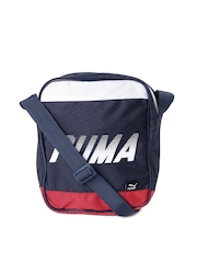 PUMA Unisex Navy Portable Messenger Bag
