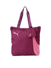 PUMA Purple Printed Fundamentals Shopper Tote Bag