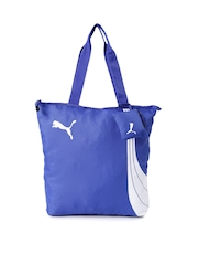 PUMA Blue Printed Fundamentals Shopper Bag