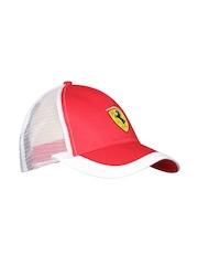 Ferrari Men Red & White Scudetto Mesh Cap