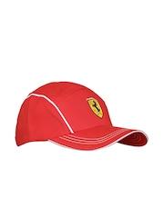 Ferrari Men Red Piping Shield Cap