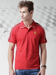 Ferrari Scuderia Red New Checkflag Polo T-shirt