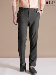 Louis Philippe Sport Charcoal Grey Essex Fit Formal Trousers
