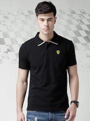 Ferrari Scuderia Black Flag Pique Polo T-shirt