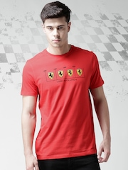 Ferrari Red Printed Evolution Shield T-shirt