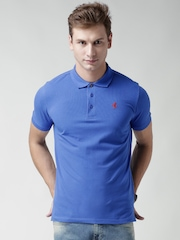Ferrari Blue Evoloution Printed Back Polo T-shirt