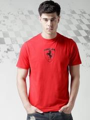 Ferrari Scuderia Red SCUDETTO Carbon Fibre Printed T-shirt