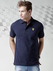 Ferrari Scuderia Navy INSTIT PIQUET SCUDETTO Polo T-shirt