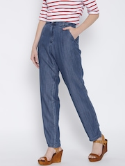 United Colors of Benetton Women Blue Relaxed Fit High-Rise Clean Look Jeans