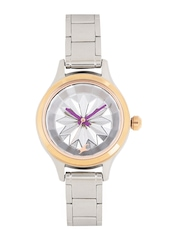 Fastrack Women Silver-Toned Textured Dial Watch 6132KM01