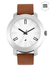 Fastrack Men White Dial Watch NG3120SL01C