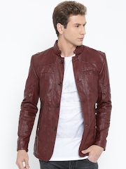 Fort Collins Burgundy Faux Leather Jacket