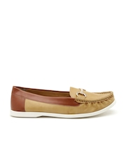Carlton London Women Brown Colourblocked Loafers