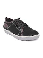 Numero Uno Men Black Leather Sneakers