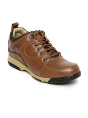 Red Chief Men Brown Leather Casual Shoes