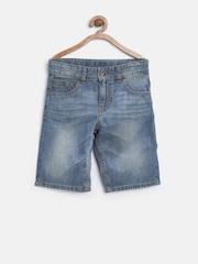 United Colors of Benetton Boys Blue Washed Denim Shorts