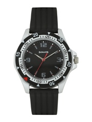Sonata Men Black Dial Watch NF7930PP02J