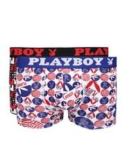 Playboy Men Pack of 2 Printed Trunks UD 62