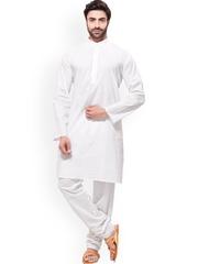 RG DESIGNERS White Kurta Pyjama