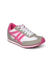Spinn Women Pink Suede Running Shoes