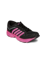Spinn Women Black & Pink Coil Running Shoes