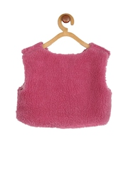 My Lil Berry Girls Pink Fleece Shrug