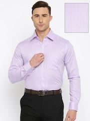 Park Avenue Men Lavender Slim Fit Solid Formal Shirt