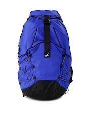 Fastrack Men Blue & Black Backpack