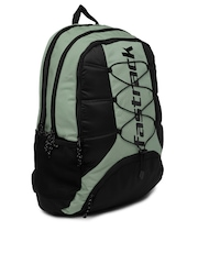 Fastrack Men Grey & Black Backpack