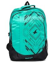Fastrack Men Green & Black Printed Backpack