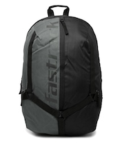 Fastrack Men Black & Grey Backpack