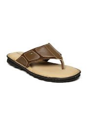 Hush Puppies Men Brown Leather Sandals