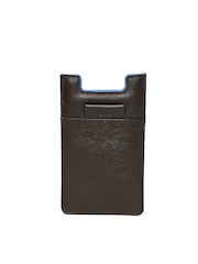 VIARI Unisex Brown Leather iPhone 6 Mobile Pouch