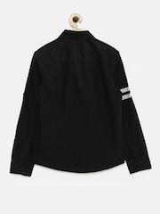 Allen Solly Junior Boys Black Casual Shirt