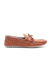 United Colors of Benetton Men Rust Brown Suede Boat Shoes