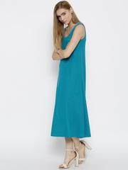 red dot by Rang Bandhej Women Blue Midi Dress