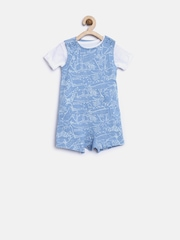 mothercare Boys Blue Printed Clothing Set