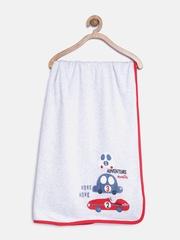 mothercare Boys Grey Melange & Navy Striped Reversible Shawl