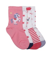 mothercare Girls Set of 4 Above Ankle-Length Socks
