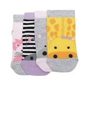 mothercare Girls Set of 4 Ankle-Length Socks