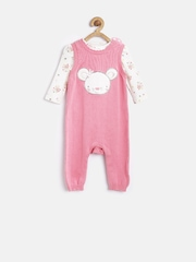 mothercare Girls Pink & Off-White Clothing Set