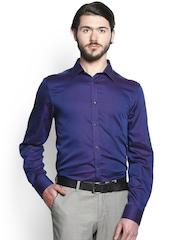 Blackberrys Blue Slim Fit Formal Shirt