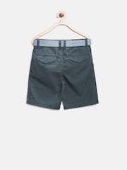 U.S. Polo Assn. Kids Boys Grey Regular Fit Shorts