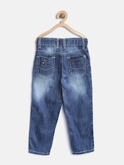 612 league Boys Blue Washed Jeans