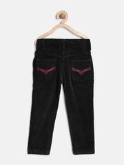 612 League Girls Black Corduroy Trousers