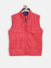 612 league Boys Red Reversible Puffer Jacket
