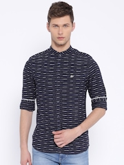 Ed Hardy Navy Striped Casual Shirt